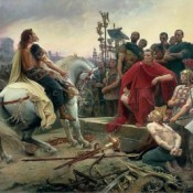 End of the Siege and Battle of Alesia.   5 October, 52 BC.