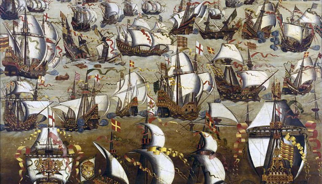 The Spanish Armada sets sail. May 28, 1588.