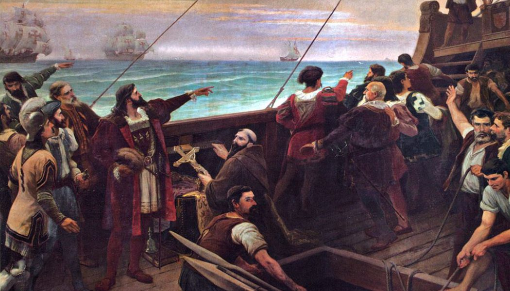 Cabral lands foot in Brazil. April 22, 1500.