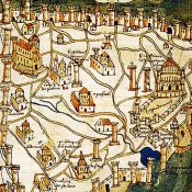 The Walls of Constantinople collapse. November 6, 447.