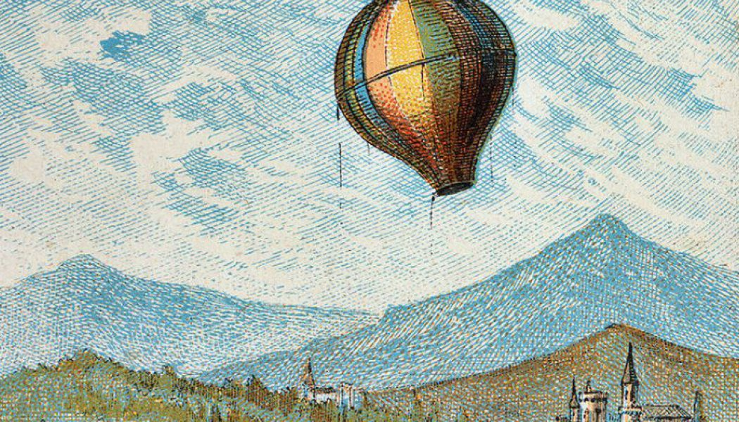 The Montgolfier brothers´ montgolfière. June 4, 1783.