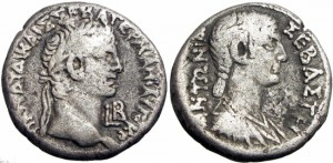 EGYPT, Alexandria.Claudius, with Antonia. 41-54 AD.