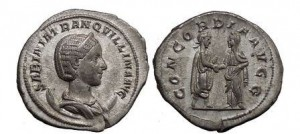 TRANQUILLINA, 241 AD. Silver Antoninianus. Wedding Celebration Coin. Splendid