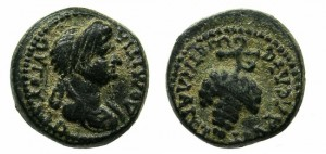FLAVIA PHILADELPHIA.DOMITIA, WIFE OF DOMITIAN AUGUSTA AD 82-96.AE.15.2MM.
