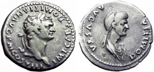 DOMITIAN. 81-96 AD, AND DOMITIA TETRADRACHM ,RARE .
