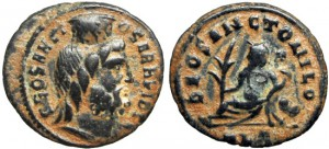 TIME OF MAXIMINUS II. AD 310-313. ALEXANDRIA MINT.