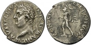FORVM Vitellius Denarius Unpublished Legend Variation Mars Marching Nude