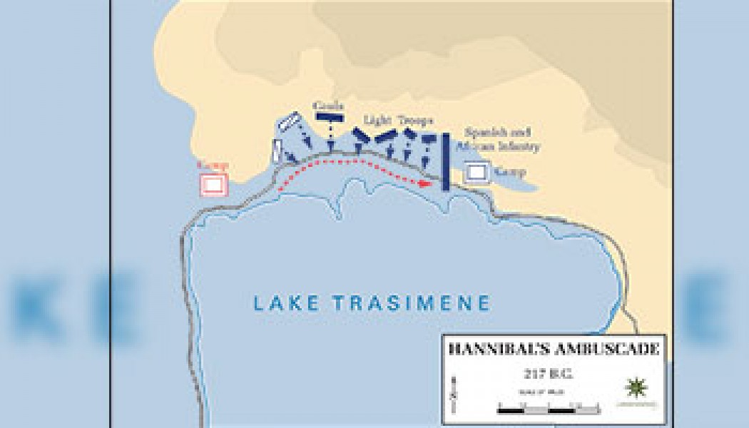Battle of Lake Trasimene – June 24, 217 BC