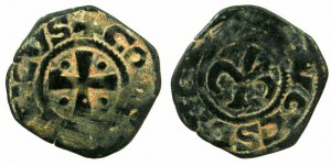 CRUSADER STATES.JERUSALEM.Henry of Champagne AD 1192-1197.AE.Pougeoise of Acre