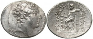 SELEUCID KINGS of SYRIA. Antiochos IV Epiphanes. 175-164 BC. AR Tetradrachm (33mm, 16.66 g, 12h). Antioch mint