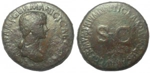 Agrippina Senior, wife of Germanicus, died 33 AD. AE Sestertius