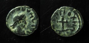 Vandals, imitation of late roman coin, 10mm