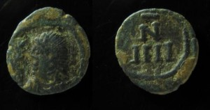 Vandals in Carthage Æ 4 Nummi. Municipal coinage c. 480-533.