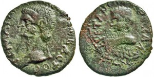 Macedon, Thessalonica. Claudius & Britannicus. VERY RARE.