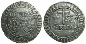 ANGLO-GALLIC. French Royal Coinage. Henry VI (As King of France 1422-1453), Grand Blanc aux ecus.Mint mark lys.Struck at the mint Saint-Lo