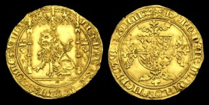 BELGIUM - FLANDERS (Low Countries) - Philip 'the Good', Gold Lion d'or, 1454-60AD.