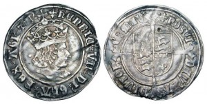 ENGLAND. Henry VII, 1485-1509 AD. AR Groat, i. m. Cross crosslet, of London.