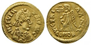 Visigoths, Gaul, Tremissis, Uncertain mint, in the name of Libius Severus