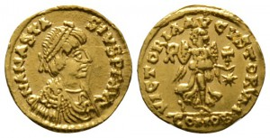 Ostrogoths, Theoderic (493-526), Tremissis, Rome