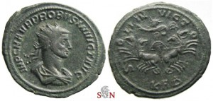 Probus Antoninianus - Very Rare with INVICT obv. legend - Serdica mint