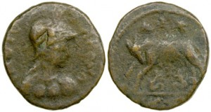 Ostrogothic Municipal Coinage of Rome. Prior to AD 536. AE Follis.