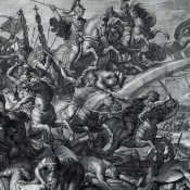 The Battle of the Milvian Brigde. October 28, 312 AD.