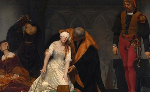 The death of Lady Jane, the Nine Days' Queen. February 12, 1554.