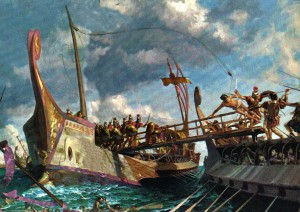 The Battle of Naulochus. September 3, 36 BC.