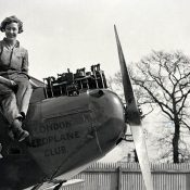 First woman to fly solo from England to Australia. May 24, 1930.