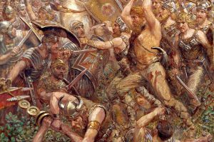 The Battle of Teutoburg Forest. September 11, 9 AD.